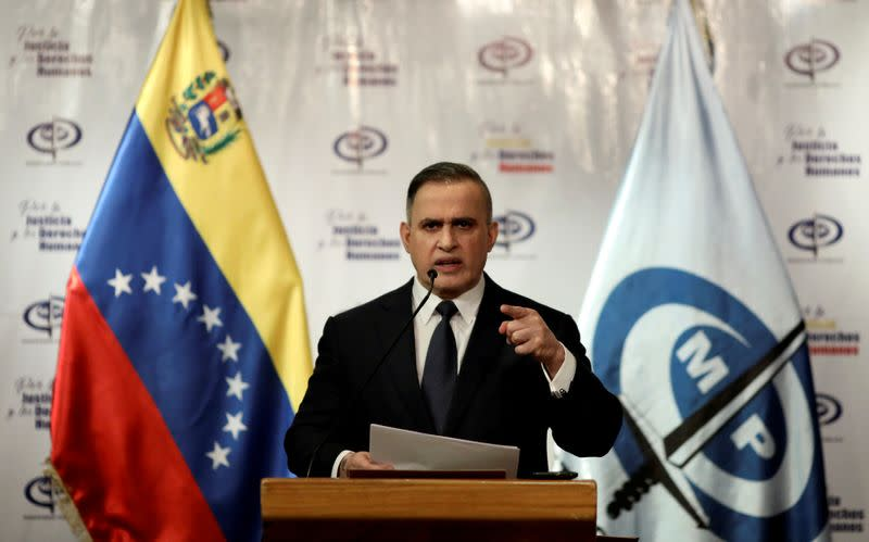 FILE PHOTO: Venezuela's chief prosecutor Tarek William Saab holds a news conference in Caracas