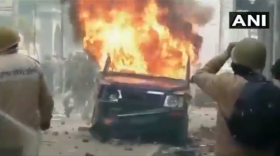 CAA protest: UP police injured in multiple stone pelting incidents, vehicle torched in Bulandshahr