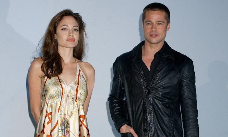 Angelina Jolie and Brad Pitt (Photo by Gregg DeGuire/WireImage)