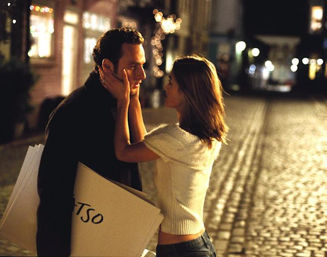 "<p>Most of the romances in Richard Curtis's modern-day favorite are quite weird on closer inspection. Case in point: Andrew Lincoln's confessing his love for Keira Knightley just after she's married his best friend. While we're fans of the memes (<a href=""http://www.nbc.com/saturday-night-live/video/hillary-actually/3442511?snl=1"" rel=""nofollow noopener"" target=""_blank"" data-ylk=""slk:and SNL parodies"" class=""link rapid-noclick-resp"">and <em>SNL</em> parodies</a>) birthed by this sequence, in the moment it's spectacularly creepy rather than swooningly romantic. Thankfully, Knightley's wise enough to realize she's got a great thing with Chiwetel Ejiofor and leaves Lincoln out in the cold where he belongs. (Photo: Universal/courtesy Everett Collection) </p>"