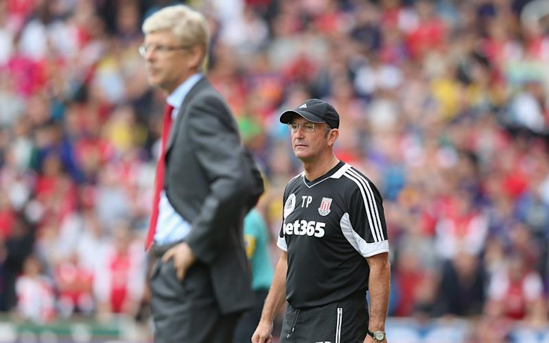 Wenger and Pulis in 2012
