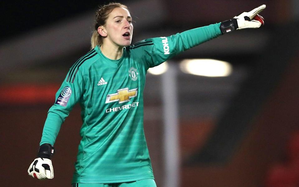 Manchester United goalkeeper Siobhan Chamberlain in action - PA