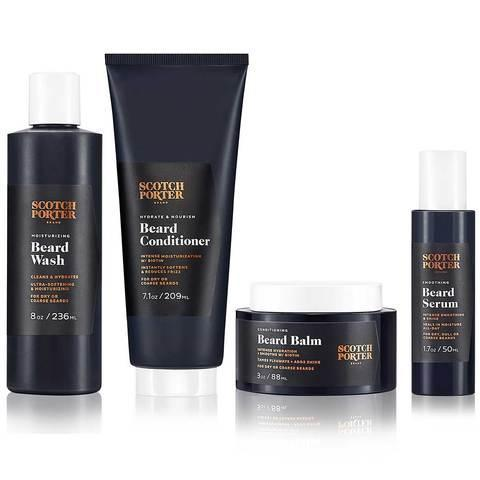 """Or if he's rocking a beard, help him keep it in tip-top shape with this set of Scotch Porter beard care essentials—including a wash, conditioner, balm, and serum in a """"masculine floral"""" scent. $73, Scotch Porter. <a href=""""https://www.scotchporter.com/products/scotch-porter-beard-collection"""" rel=""""nofollow noopener"""" target=""""_blank"""" data-ylk=""""slk:Get it now!"""" class=""""link rapid-noclick-resp"""">Get it now!</a>"""