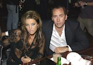 """<p>Not long after the ink on his divorce papers from Patricia had dried, Nicolas wed Elvis Presley's daughter, Lisa Marie, who had previously been married to Michael Jackson. Nicolas filed for divorce in 2002 after three months of marriage. """"I'm sad about this, but we shouldn't have been married in the first place,"""" Lisa Marie <a href=""""http://people.com/celebrity/cage-files-for-divorce-from-presley/"""" rel=""""nofollow noopener"""" target=""""_blank"""" data-ylk=""""slk:said in a statement"""" class=""""link rapid-noclick-resp"""">said in a statement</a> at the time.</p>"""