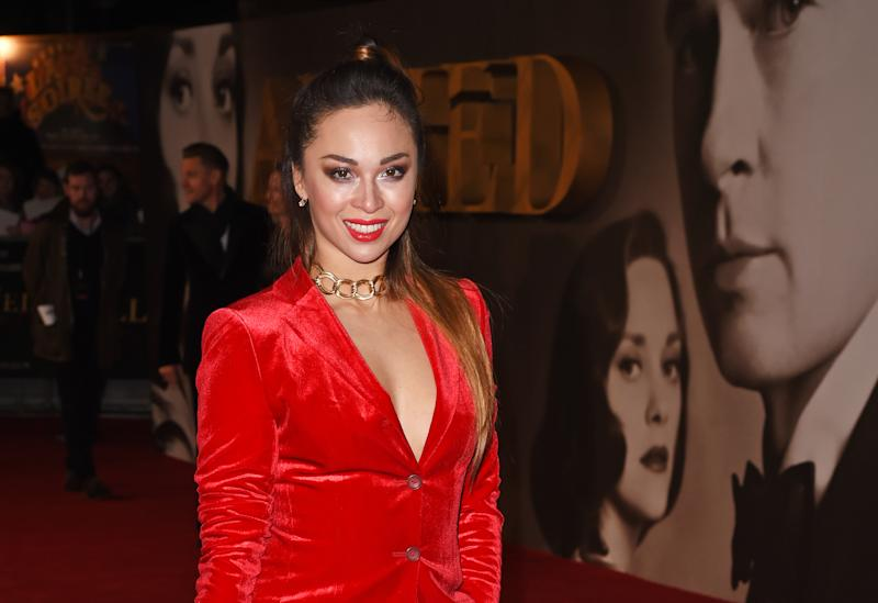 "LONDON, ENGLAND - NOVEMBER 21: Katya Jones attends the UK Premiere of ""Allied"" at Odeon Leicester Square on November 21, 2016 in London, England. (Photo by David M. Benett/Dave Benett/WireImage)"