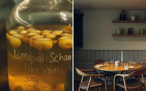 schnapps and a laid table at the black swan - Credit: India Hobson