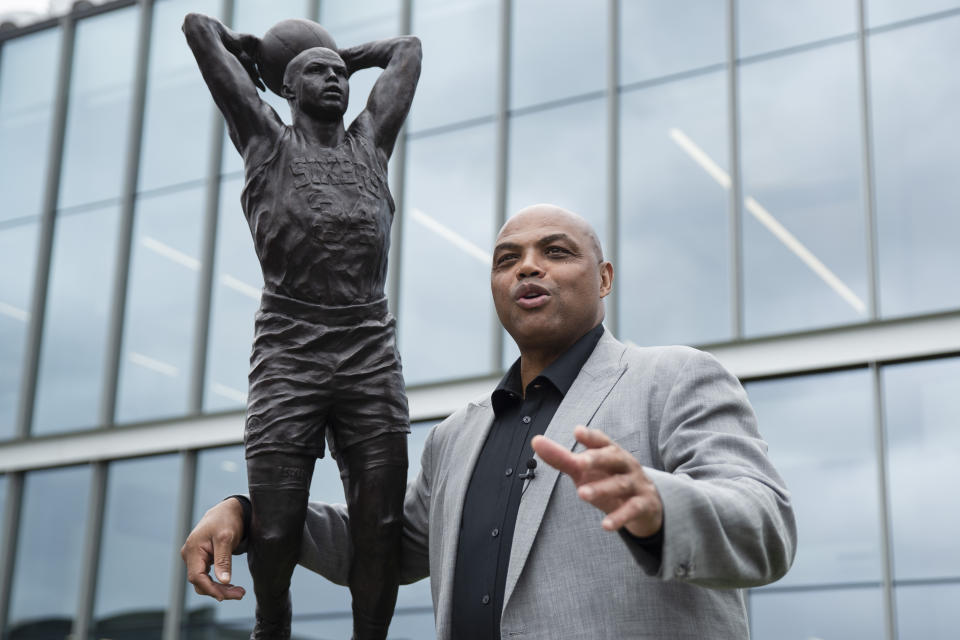 Charles Barkley and his statue.