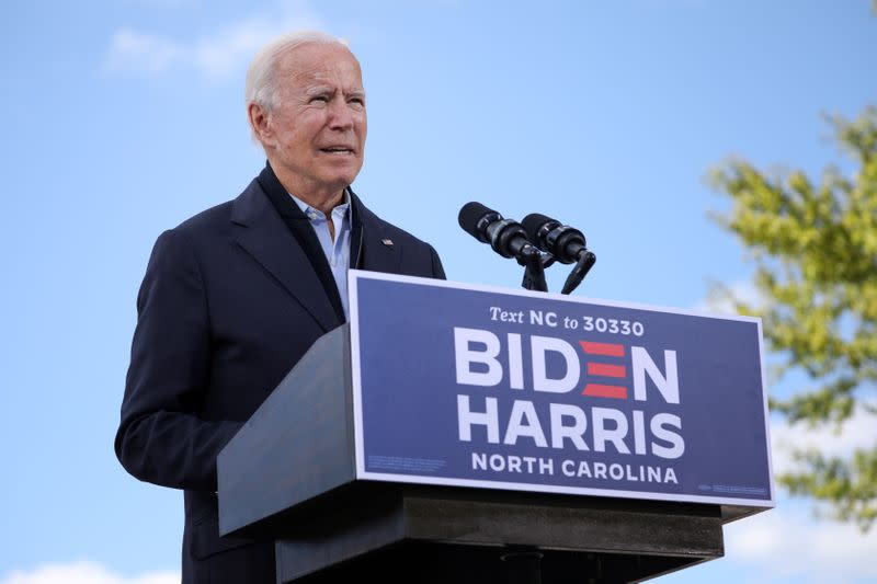 FILE PHOTO: Democratic presidential candidate Joe Biden campaigns in North Carolina