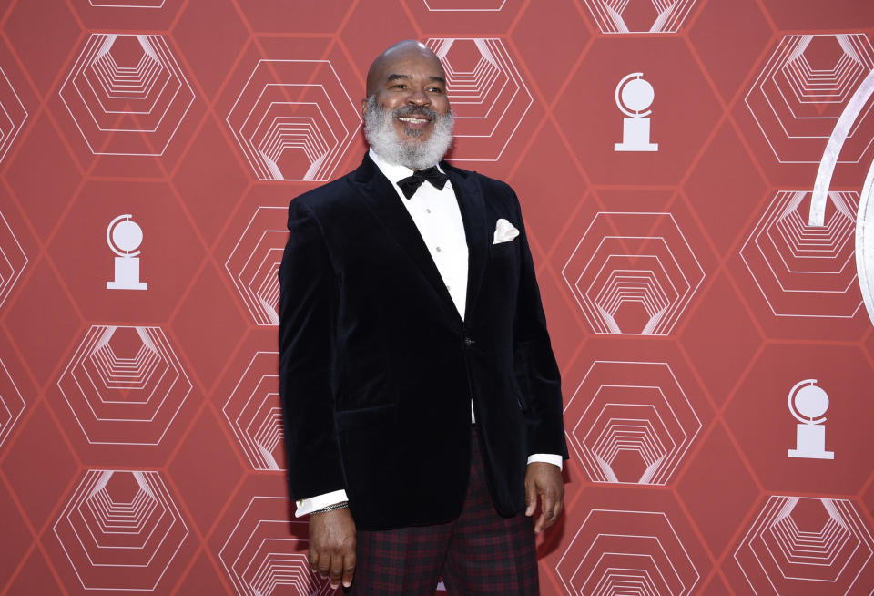 David Alan Grier arrives at the 74th annual Tony Awards at Winter Garden Theatre on Sunday, Sept. 26, 2021, in New York. (Photo by Evan Agostini/Invision/AP)