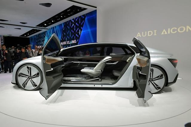 <p><strong>Audi AIcon</strong><br>Audi's other concept car, the AIcon (still clever, right?), is a four-door vehicle that has no steering wheel or pedals. The purely electric car would be able to drive more than 800 kilometres on a single charge, all without the driver having to lift a finger. Anticipated launch year: 2019. (Photo by Thomas Lohnes/Getty Images) </p>