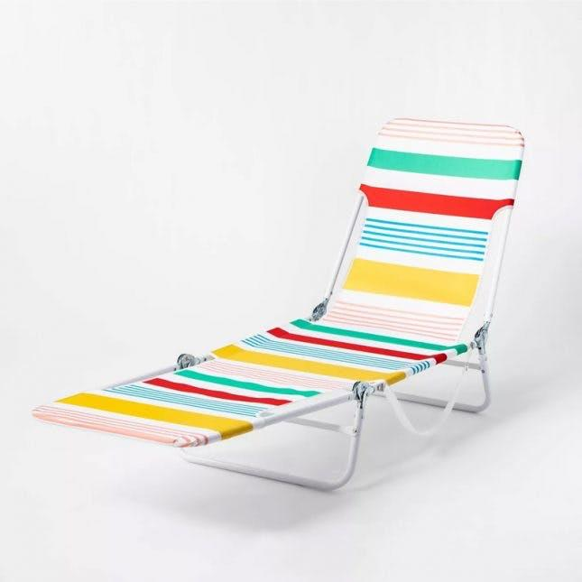 Sun Squad Stripe Outdoor Beach Lounger