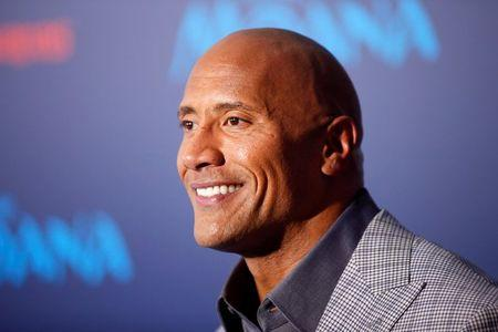 "Actor Dwayne Johnson poses at the world premiere of Walt Disney Animation Studios' ""Moana"" in Hollywood"