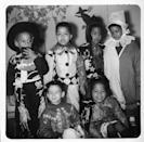 <p>Clowns and cowboy costumes were all the rage when it came to Halloween in the late '40s. </p>