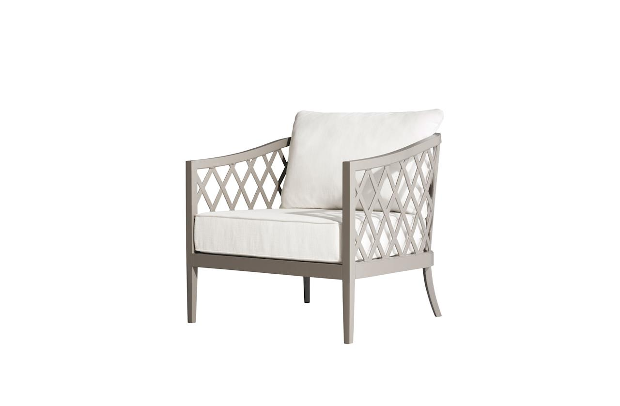 "Greystone aluminum lounge chair by Ann Marie Vering for RH; from $862. <a href=""https://www.restorationhardware.com/"">rh.com</a>"