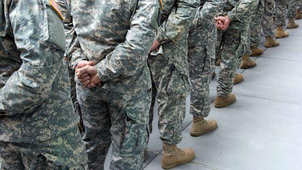 PHOTO: Soldiers stand at attention in this stock photo. (STOCK PHOTO/Getty Images)