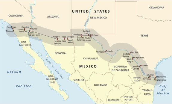 Wildlife Species At Risk From Trumps Beautiful Border Wall - Map of us mexico wall