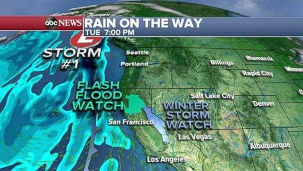 Much-needed rainfall is approaching the West Coast. (ABC News)