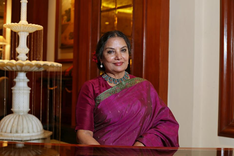 NEW DELHI, INDIA - AUGUST 9: Bollywood actor Shabana Azmi poses for a profile shoot on August 9, 2019 in New Delhi, India. (Photo by Raajessh Kashyap/Hindustan Times via Getty Images)