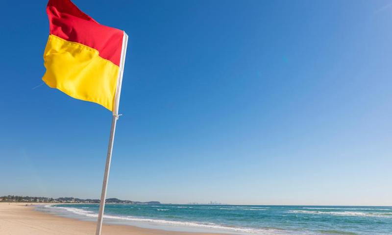 Surf life-saving authorities encouraged people to seek out patrolled beaches and swim between the flags.