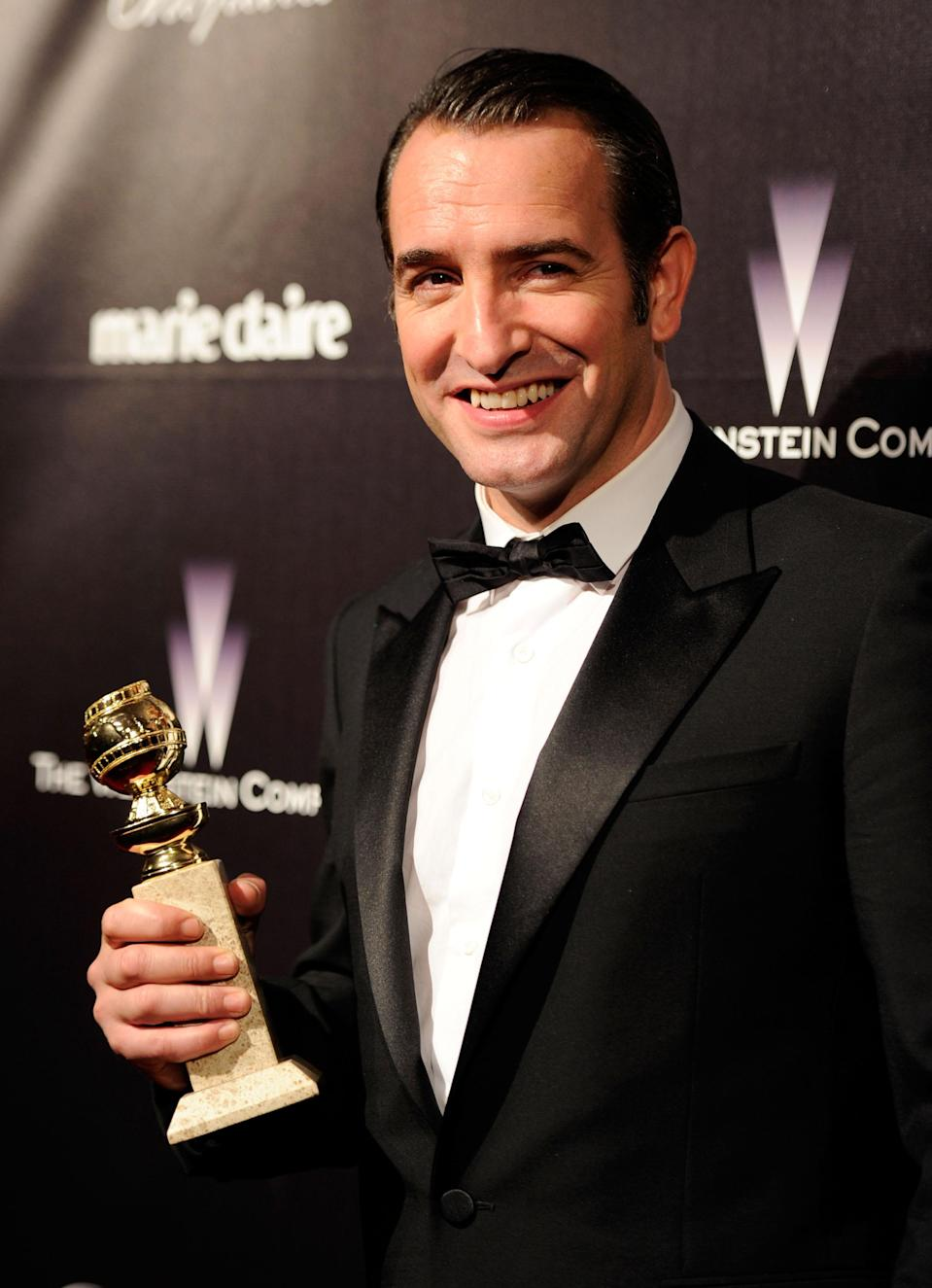 """Jean Dujardin is nominated for his role in the silent film, """"The Artist."""" (Photo by Frazer Harrison/Getty Images)"""