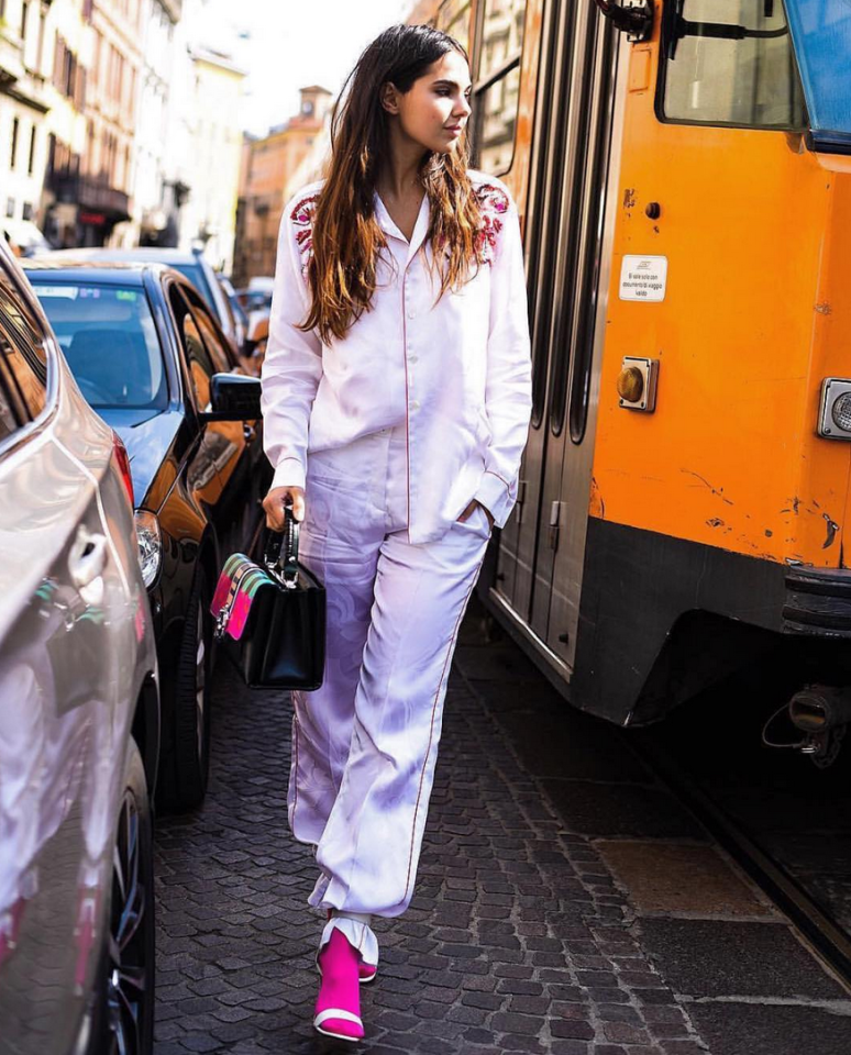 <p>After years of loungewear inspired looks on the catwalks the pyjama trend was set the stick around, and has continued to blossom throughout 2017. As much as we appreciate being able to stay in our pyjamas all day, it does look like we just couldn't be bothered to get dressed that morning. Therefore, the trend will always remain a cringe, embarassing memory. <em>[Photo: Doina/Instagram]</em> </p>