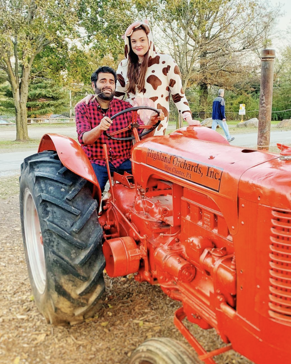 """<p>Yeehaw! How adorable is this farmer and his cow? All you'll need to recreate this look is a flannel button-up and cow costume.<br></p><p><a class=""""link rapid-noclick-resp"""" href=""""https://www.amazon.com/Silver-Lilly-Adult-Pajamas-Cosplay/dp/B0145JU0OW/?tag=syn-yahoo-20&ascsubtag=%5Bartid%7C10072.g.27868801%5Bsrc%7Cyahoo-us"""" rel=""""nofollow noopener"""" target=""""_blank"""" data-ylk=""""slk:SHOP SIMILAR"""">SHOP SIMILAR</a></p>"""