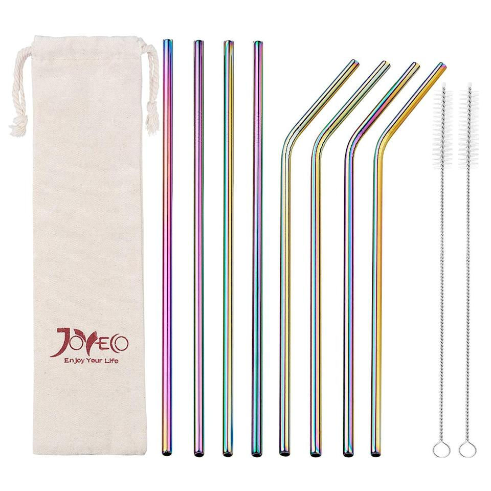 <p><span>JOYECO Stainless Steel Drinking Straws</span> ($11) come with two brushes for easy cleaning.</p>