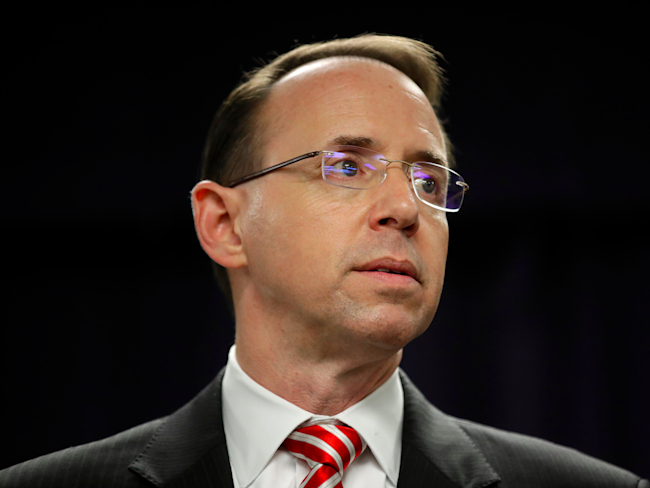 Mueller's Team Interviewed Rod Rosenstein About Comey Firing