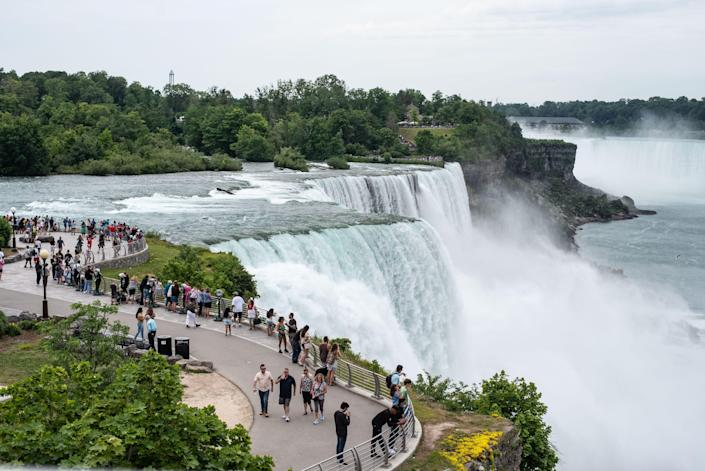 Niagara Falls State Park offers a side view of the falls.