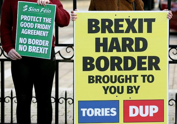 In a bid to solve problems caused by Brexit, the EU put forward a host of proposals, including reduced customs checks and paperwork on British products intended for Northern Ireland (AFP/Paul FAITH)