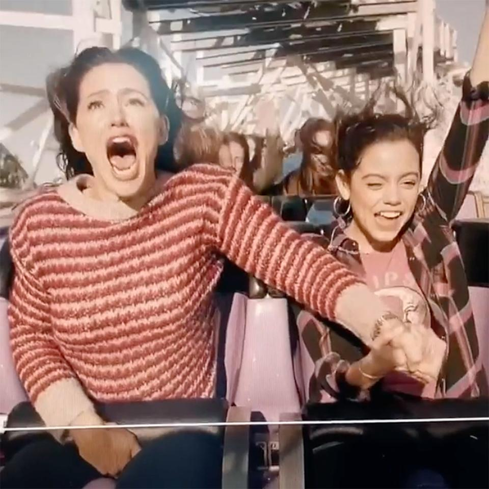 """Jennifer Garner took <a href=""""https://people.com/movies/jennifer-garner-hilariously-screams-rides-rollercoaster-new-movie-yes-day/"""">one for the team</a> while shooting her upcoming film<em>Yes Day</em> at Six Flags in California.  Garner provided a funny commentary of her expressions and reactions while gifting the footage with her fans.  """"This is me on a rollercoaster called Twisted Colossus. I'm having a great time,"""" Garner said, laughing. In the video, the actress grips her costar Jenna Ortega's hand tightly. """"I'm riding with Jenna Ortega who is a nervous wreck and I'm really comforting her.""""  In the caption, Garner wrote, """"Shooting<a>#YesDay</a>at<a>#SixFlagsMagicMountain</a>is a dream come true. Unless you hate roller coasters. 🙋🏻♀️👵🏻☠️<a>#Icried</a><a>#twistedcolossus🎢🙅🏻</a>♀️.<a>@jennaortega</a>and<a>@julianlerner</a>have ice in their veins. Thank you for looking after me. ♥️ I love you guys. ♥️"""""""