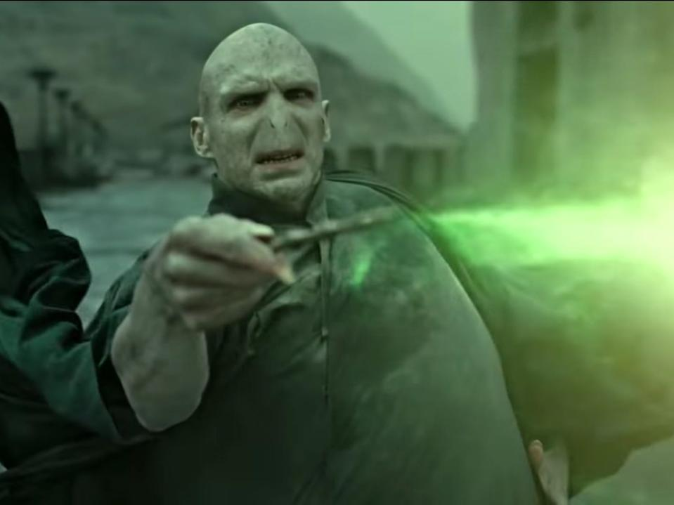 Voldemort died at the end of the series.