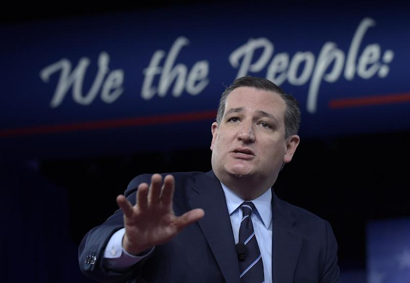 Sen. Ted Cruz, R-Texas speaks at the Conservative Political Action Conference (CPAC) in Oxon Hill, Md., Thursday, Feb. 23, 2017. (AP Photo/Susan Walsh)