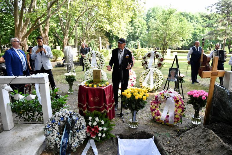 Hungarian-born actress Zsa Zsa Gabor is laid to rest in Budapest