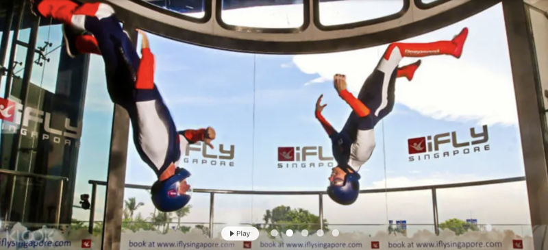 iFly experience (2 dives), S$67 (was S$119). PHOTO: Klook