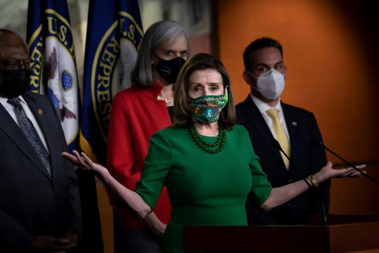 US lawmakers including House Speaker Nancy Pelosi are considering a $1.9 trillion Covid relief package, but the plan hit a snag when a Senate official ruled that a minimum wage hike to $15 an hour, a Democratic priority, can not be included