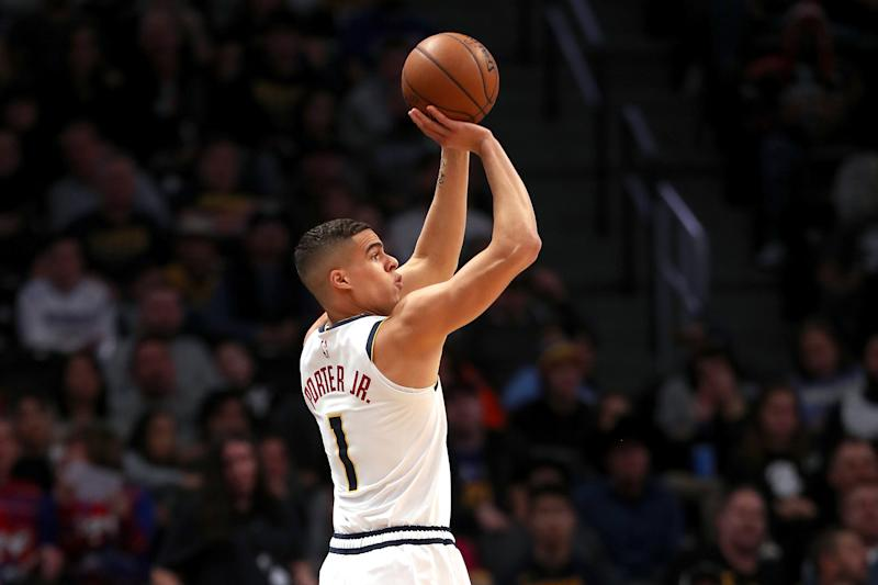 Michael Porter Jr. #1 of the Denver Nuggets