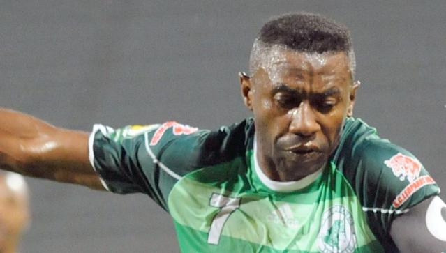 Congolese footballer Rudy Guelord Bhebey-Ndey, pictured on October 6, 2012 is in intensive care in a Cairo military hospital after suffering serious injuries in a weekend pan-African club competition match (AFP Photo/Fadel Senna)