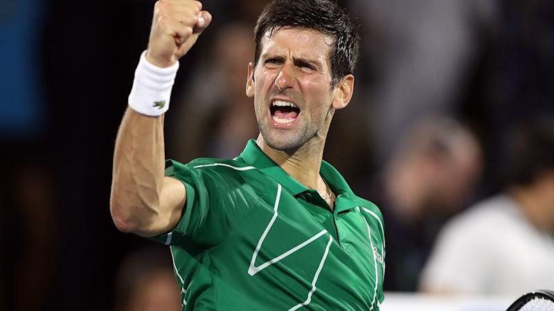 Novak Djokovic, pictured here in action at the Dubai Duty Free Tennis Championships in February.