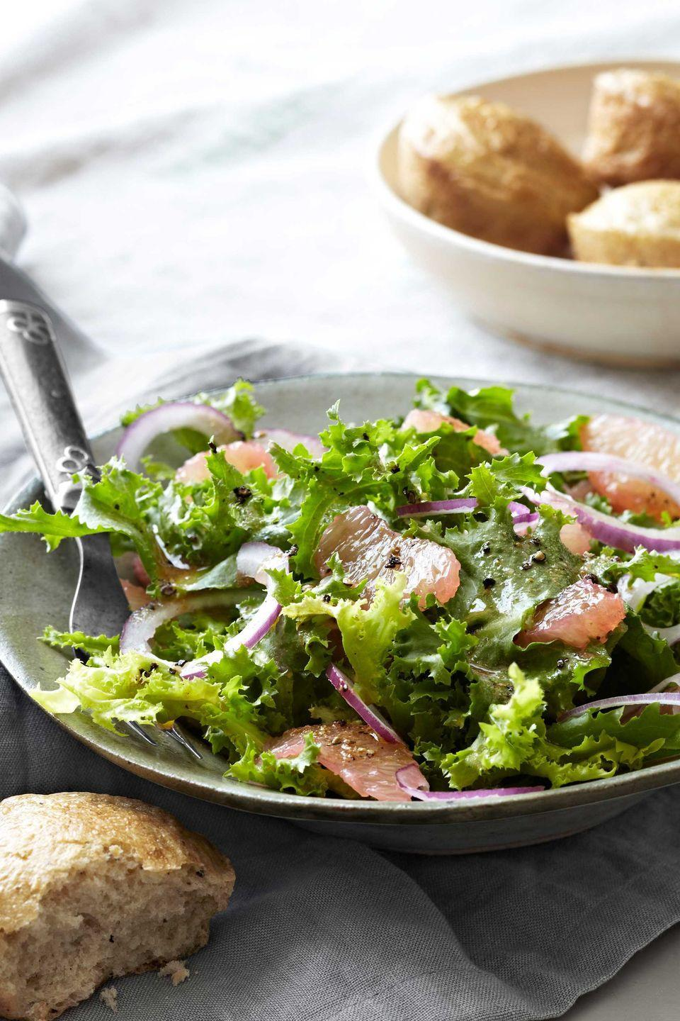 "<p>This bright salad features sweet-tart grapefruit and slightly bitter chicory for a refreshing addition to your holiday table.</p><p><strong><a href=""https://www.countryliving.com/food-drinks/recipes/a4251/ruby-red-grapefruit-chicory-salad-recipe-clv1112/"" rel=""nofollow noopener"" target=""_blank"" data-ylk=""slk:Get the recipe"" class=""link rapid-noclick-resp"">Get the recipe</a>.</strong></p>"