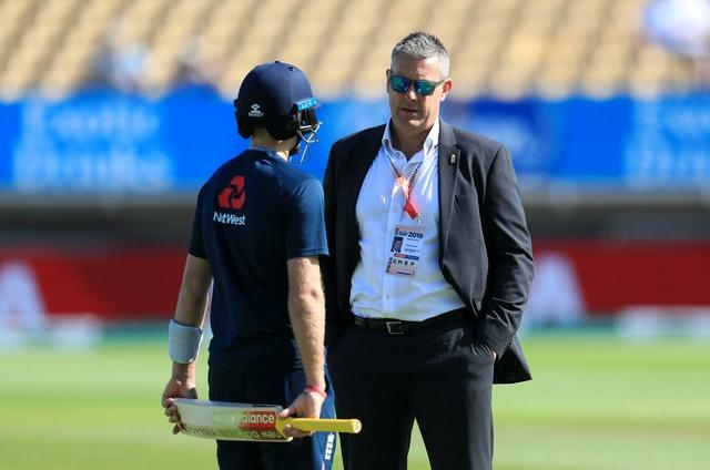 ECB director of cricket Ashley Giles (right) has briefed players.