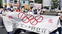 Protesters against the Olympic Games in Tokyo