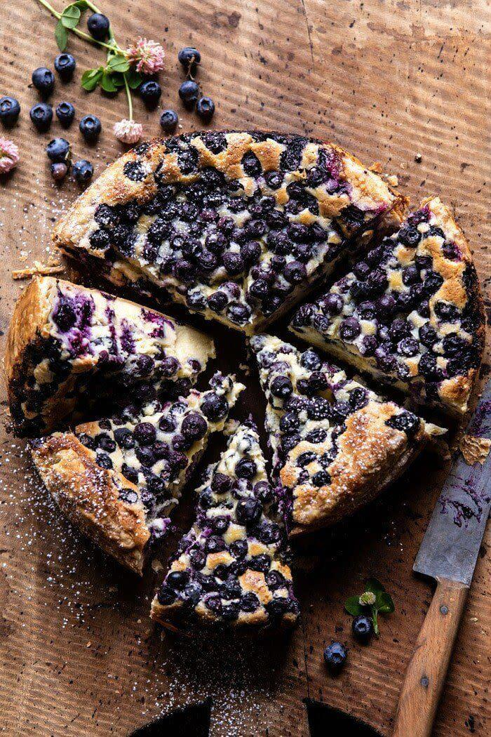 """<a href=""""https://www.halfbakedharvest.com/simple-blueberry-basque-cheesecake/"""" rel=""""nofollow noopener"""" target=""""_blank"""" data-ylk=""""slk:Get the Blueberry Basque Cheesecake recipe from Half Baked Harvest"""" class=""""link rapid-noclick-resp""""><strong>Get the Blueberry Basque Cheesecake recipe from Half Baked Harvest</strong></a>"""