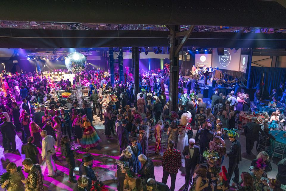 Inside the Bal Masqué, at The Sugar Mill in New Orleans.