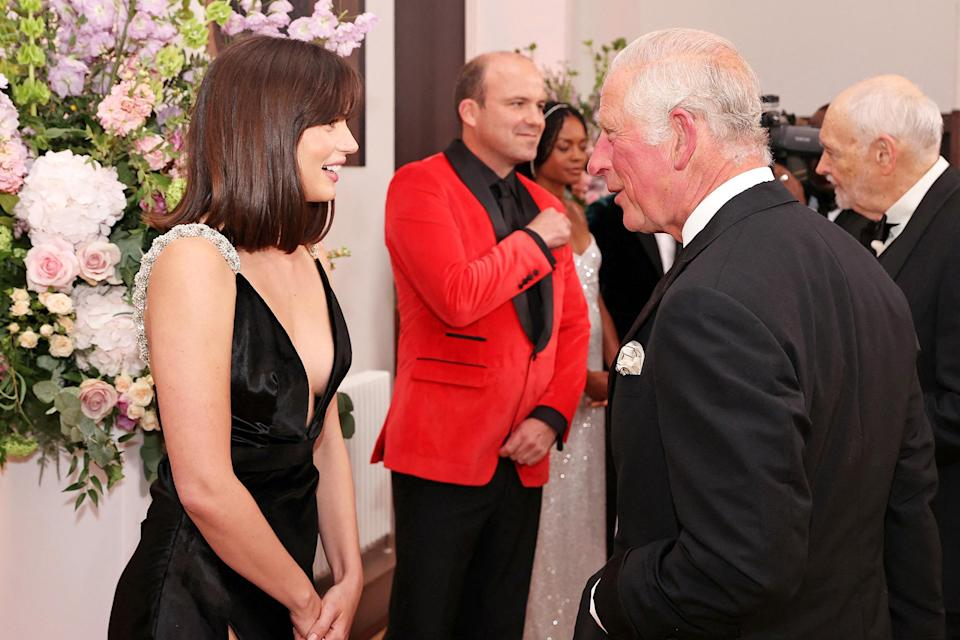 <p>Ana de Armas also got a moment with Prince Charles, who is Patron of The British Film Institute. </p>