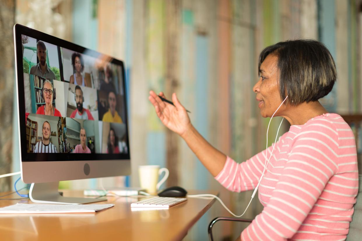 Mature woman on video call from home during the Covid lockdown (Getty images)