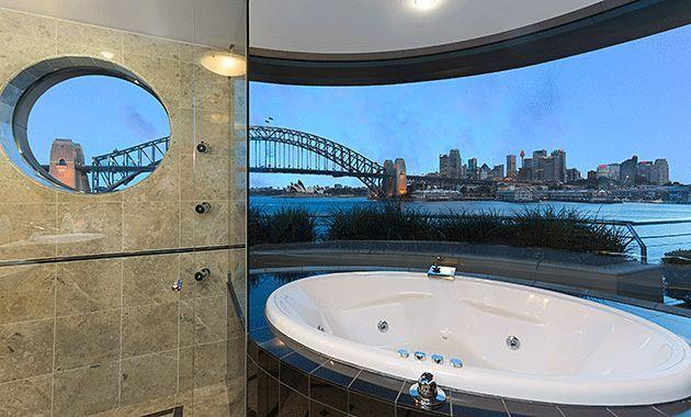 The view from the master ensuite. Photo: Justine Tyerman