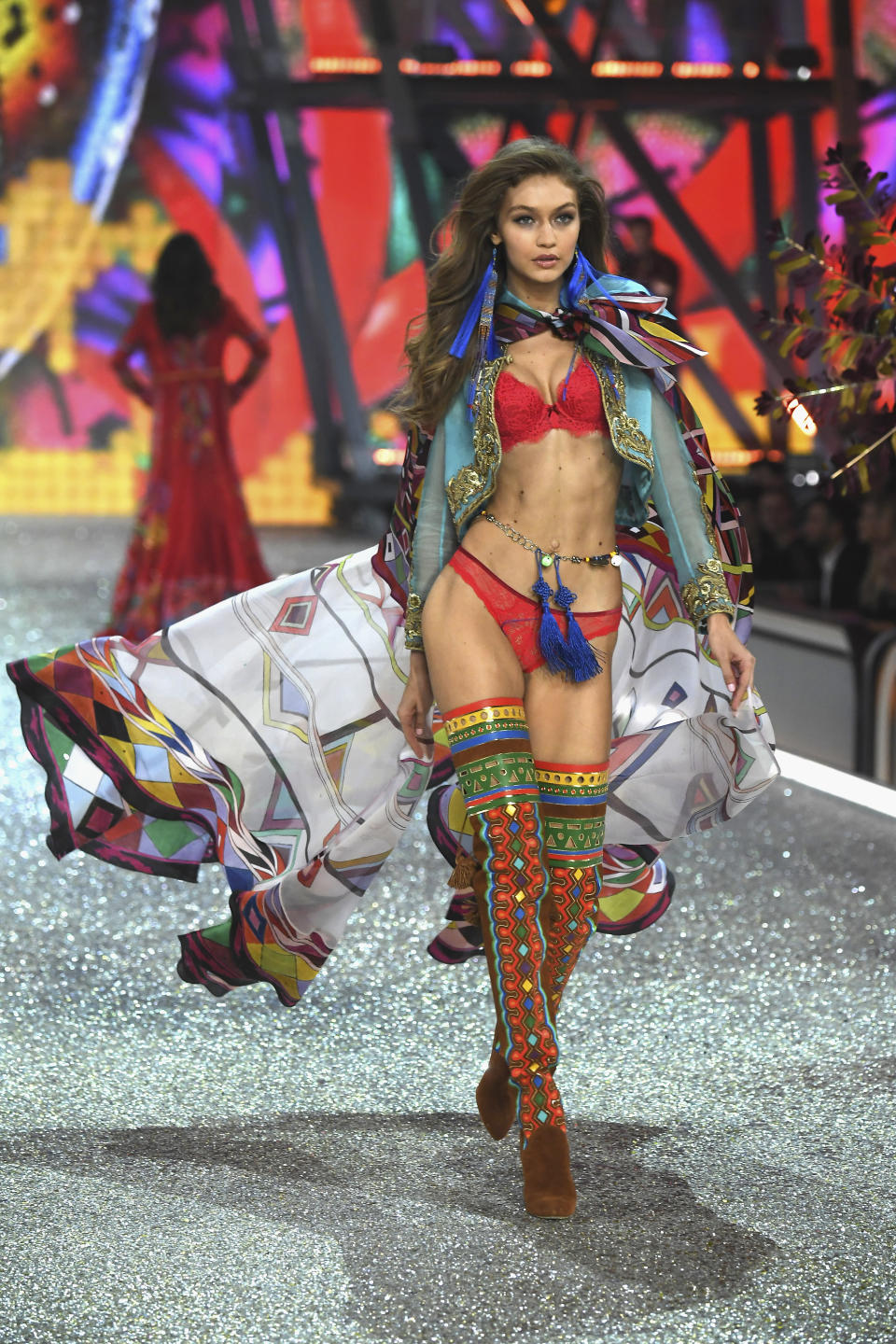 Legs for days at the 2016 Victoria's Secret Fashion Show.
