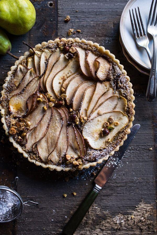 "<p>The WAY fancier version of dipping pear slices in Nutella. </p><p>Get the recipe from <a href=""https://www.halfbakedharvest.com/caramelized-pear-and-hazelnut-crumble-tart/"" rel=""nofollow noopener"" target=""_blank"" data-ylk=""slk:Half Baked Harvest"" class=""link rapid-noclick-resp"">Half Baked Harvest</a>.</p>"