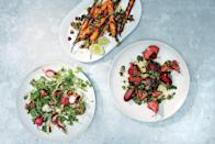"""As long as you don't mess with the ratio of vinegar, sugar, and salt, you can experiment with other spices, like fennel and coriander seeds, in this brine. <a href=""""https://www.epicurious.com/recipes/food/views/grilled-brined-vegetables?mbid=synd_yahoo_rss"""" rel=""""nofollow noopener"""" target=""""_blank"""" data-ylk=""""slk:See recipe."""" class=""""link rapid-noclick-resp"""">See recipe.</a>"""